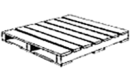 Flush pallet – a pallet with deck boards flush with stringers, stringer-boards or blocks along the sides of the pallet
