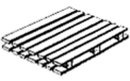 Double-face pallet – a pallet which consists of both top and bottom decks