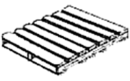 Block pallet – a type of pallet with blocks between the pallet decks or beneath the top deck