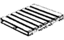 Two-way entry stringer pallet – a pallet allowing entry only from the ends as it contains un-notched solid stringers